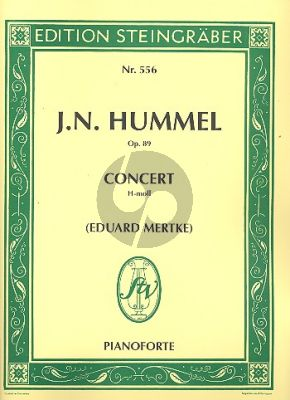 Hummel Konzert h-moll Op.89 Klavier-Orchester (2 Klaviere) (Eduard Mertke)