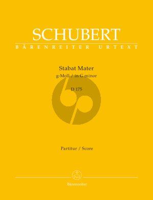 Schubert Stabat Mater g-moll D. 175 SATB-Orchester (Partitur) (Rudolf Faber)