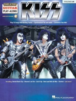 Kiss 15 Songs (Deluxe Guitar Play-Along Volume 18) (Book with Audio online)