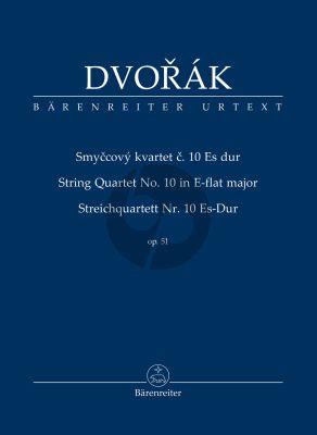 Dvorak Quartett Es-dur Op.51 2 Violinen-Viola.-Violoncello (Studienpartitur) (Hartmut Schick)