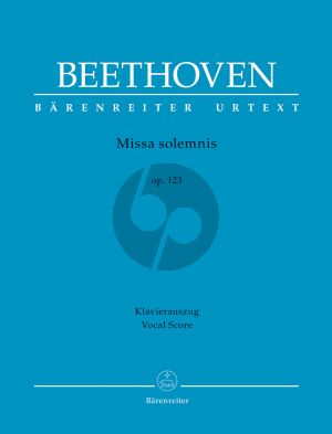 Beethoven Missa solemnis Opus 123 Soli-Choir-Orchestra (Vocal Score) (Barry Cooper)