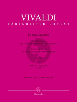 Vivaldi La Stravaganza Opus 4 Vol. 2 No. 1 - 6 Violin-Strings-Bc (piano reduction) (Bettina Schwemer)