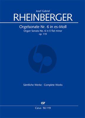 Sonate No.6 es-moll Opus 119 Orgel