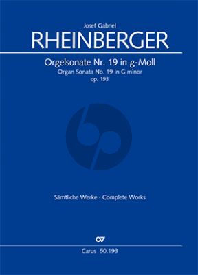 Rheinberger Sonate No.19 g-moll Opus 193 Orgel (Martin Weyer)