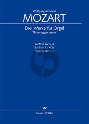 Mozart 3 Werke für Orgel - Original für Flötenuhr (Thierry Hirsch)