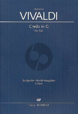 Vivaldi Credo G-dur RV 592 Soli SA-SATB- [Ob]-2 Vi.-2 Va.-Bc (Klavierauszug) (Gregory Pysh)