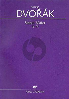 Dvorak Stabat Mater Opus 58 Bearbeitung für Kammerorchester 1876/1877 (Soli SATB, Coro SATB Klavierauszug)