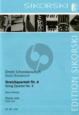 Shostakovich Streichquartett No. 8 Opus 110 für Klavier solo (arr. Boris Giltburg)