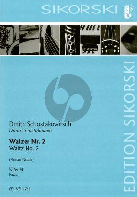 Shostakovich Walzer No.2 (Second Waltz) Klavier (aus der Suite Nr. 2 für Jazz-Orchester) (arr. Florian Noack)