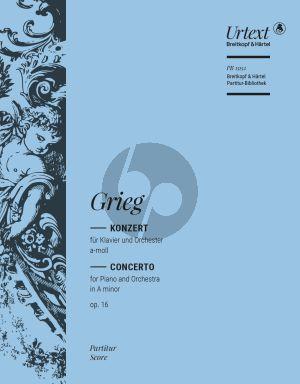 Concerto a-minor Op.16 Piano-Orchestra Full Score