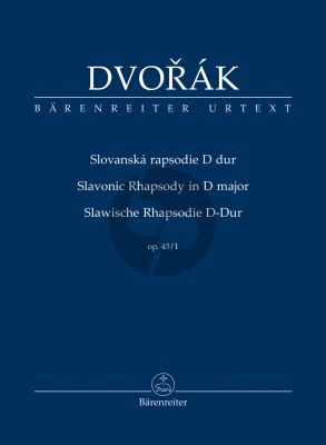 Dvorak Slavonic Rhapsody D-major Opus 45 No. 1 Study Score (edited by Robert Simon)