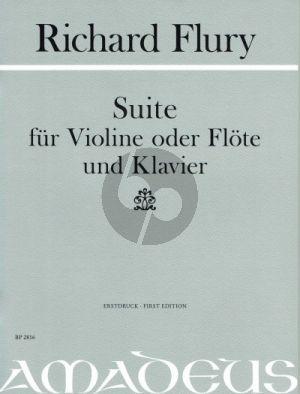 Flury Suite Violine oder Flöte und Klavier (1951) (Urs Joseph Flury)