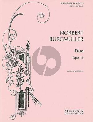Burgmuller Duo Es-dur Op.15 Klarinette und Klavier (Jost Michaels)