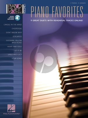 Album Piano Favorites Piano Duet Piano Duet Play-Along Vol. 1 Book with Audio Online