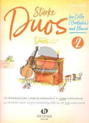 Gross Starke Duos Vol. 2 für Cello (Bratsche) und Klavie