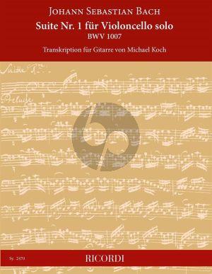 Bach Suite No. 1 Violoncello solo BWV 1007 für Gitarre (transcr. von Michael Koch)