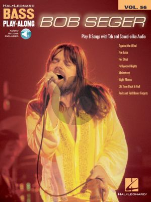 Seger 8 Songs Bass Play-Along Volume 56 (Book with Audio online)