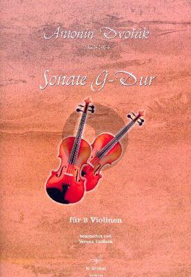 Dvorak Sonate G-Dur für 2 Violinen (Partitur und Stimme) (transcr. Verena Paulsen)