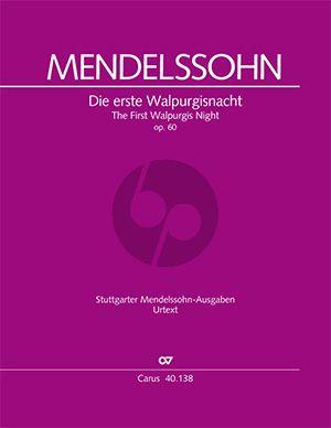 Mendelssohn Die erste Walpurgisnacht MWV D 3 Soli-Chor-Orchester Partitur (R. Larry Todd)