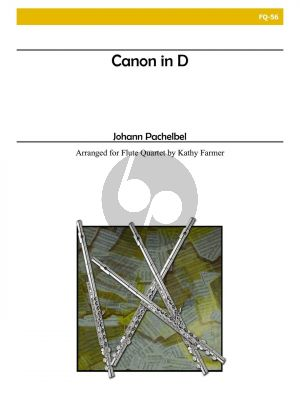 Pachelbel Canon in D for 4 Flutes (Score/Parts) (transcr. by Kathy Farmer)