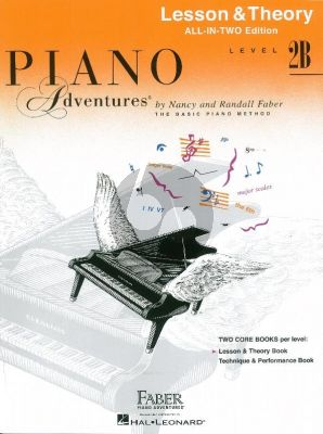 Faber Piano Adventures Lesson & Theory Book Level 2B (All in Two edition)
