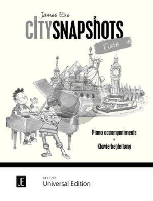 Rae City Snapshots for 1-2 Flutes Piano accompaniment