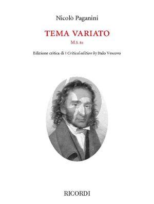 Paganini Tema variato M.S. 82 Violin solo (edited by Italo Vescovo)