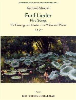 Strauss 5 Lieder Opus 39 Gesang und Klavier (dt./engl.)
