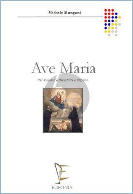 Mangani Ave Maria Soprano Voice and Piano o Organo