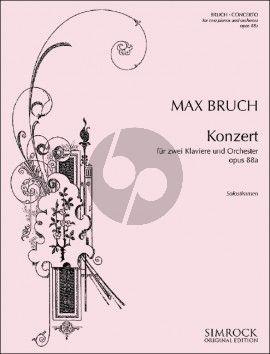 Bruch Konzert Opus 88a 2 Klaviere und Orchester (Klavierauszug 3 Klaviere zu 6 Hde) (Set von Solostimmen)