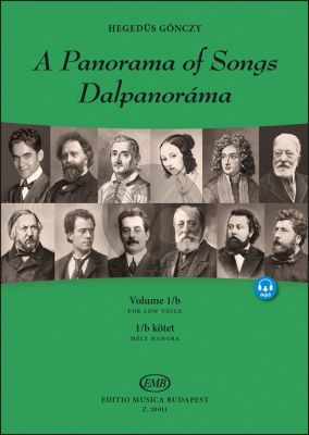 A Panorama of Songs 1B Low Voice (Easy songs from four centuries in six languages) (Book with Audio online)
