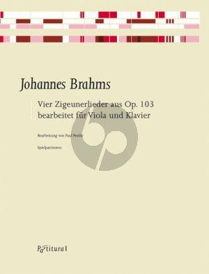 Brahms 4 Zigeunerlieder aus Op. 103 / 1, 2, 5 und 6 Viola und Klavier