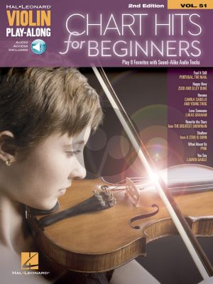 Chart Hits for Beginners (Violin Play-Along Volume 51) (Book with Audio online)