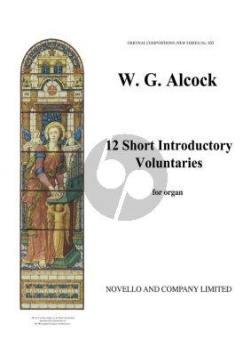 Alcock 12 Short Introductory Voluntaries for Organ