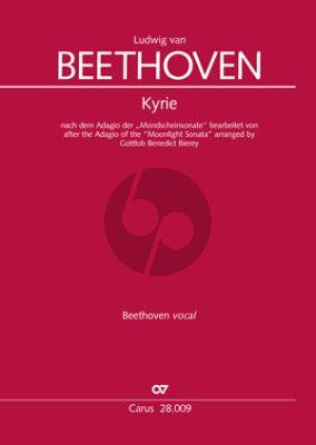 """Beethoven Kyrie nach dem Adagio der """"Mondscheinsonate"""" (SATB-orchestra Full Score) (arr. Gottlob Benedict Bierey)"""