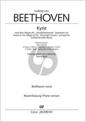 """Beethoven Kyrie nach dem Adagio der """"Mondscheinsonate"""" (Fassung SATB und Klavier)"""