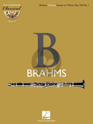 Brahms Sonata f-minor Opus 120 No. 1 for Clarinet (Classical Play-Along Volume 19) (Bk-Cd)