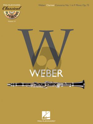 Weber Clarinet Concerto No. 1 f-minor Opus 73 (Classical Play-Along Volume 14) (Bk-Cd)