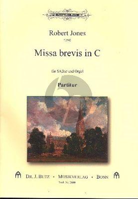 Missa Brevis C-Dur Gemischter Chor (SABar) und Orgel Partitur