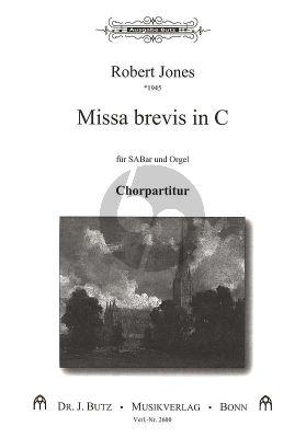 Jones Missa Brevis C-Dur Gemischter Chor (SABar) und Orgel Chorpartitur