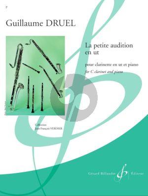 Druel La petite audition en ut Clarinette (C) et Piano (easy level grade 1 - 2)