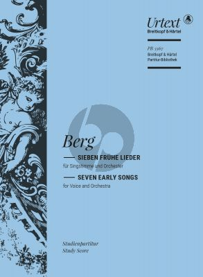 Berg 7 Fruhe Lieder High Voice and Orchestra (Study Score) (Michael Kube)