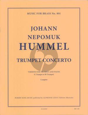 Hummel Concerto Trumpet (C or Bb) and Piano (edited by Armando Ghitalla)