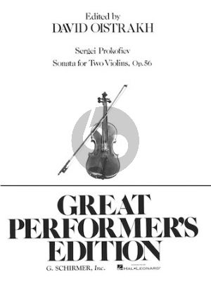 Prokofieff Sonata For Two Violins Op.56 (David Oistrakh)
