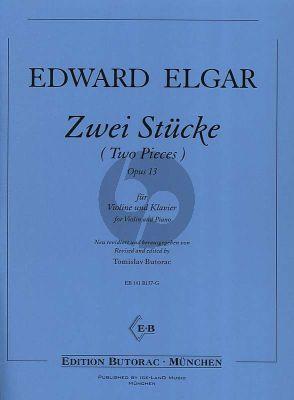 Elgar 2 Stucke Op.13 Violine und Klavier (Neu revidiert und herausgegegeben von Tomislav Butorac)