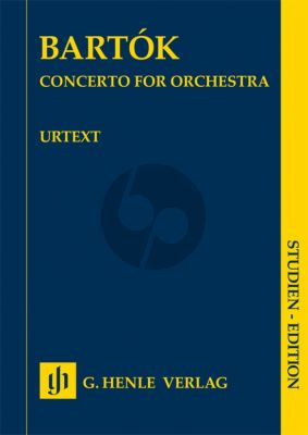 Bartok Concerto for Orchestra Study Score (edited by Klára Móricz)