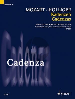 Holliger Cadenzas to Mozart's Concerto C-major KV 299 for flute, harp and orchestra (Flute and Harp)