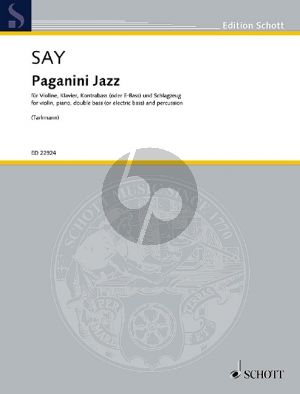 Say Paganini Jazz Opus 5c Violin-Piano-Double Bass-Percussion (Variations on the Caprice No.24 in the style of Modern Jazz) (Score/Parts)