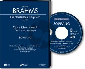 Brahms Ein deutsches Requiem Op. 45 Bass Chorstimme CD (Carus Choir Coach)