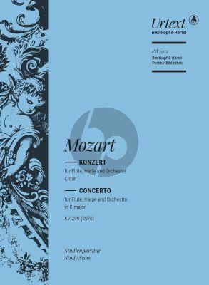 Mozart Konzert C-Dur KV 299 (297c) Flöte-Harfe und Orchester (Studienpartitur) (András Adorján)